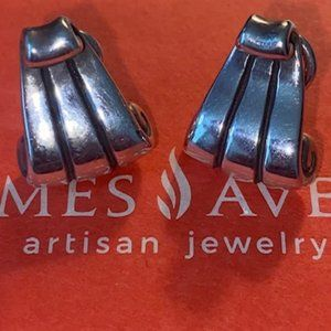 James Avery Retired .925 French Scroll Earrings